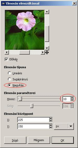 Szelektív elmosás GIMPben 5.