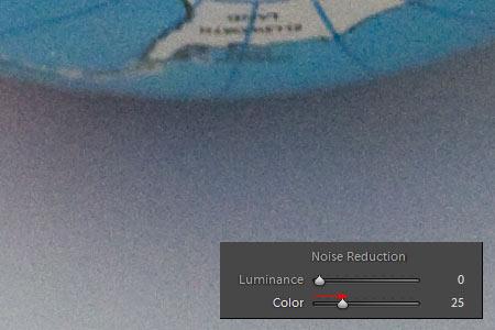 Adobe Lightroom - Zajszűrés 3.