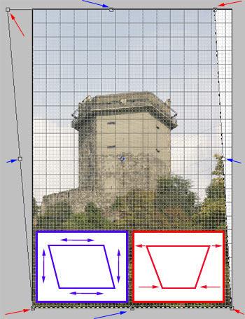 Perspektíva korrekció 2. Photoshopban 4.
