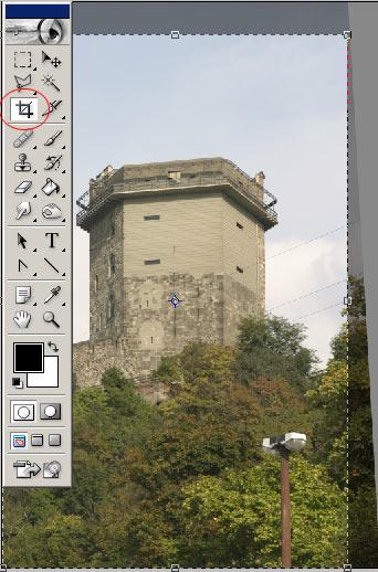 Perspektíva korrekció 2. Photoshopban 5.