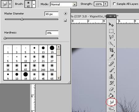 Photoshop Vignettálás csökkentése 3 3