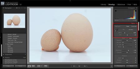 Adobe Lightroom - Fehéregyensúly beállítása 1.