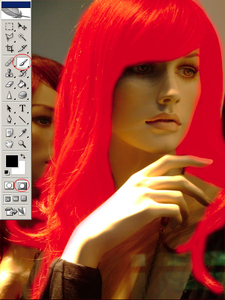 Hajfestés Photoshopban 2