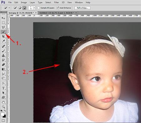 Photoshop munkamenet - Portré retusálás 2