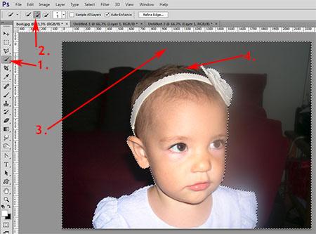 Photoshop munkamenet - Portré retusálás 3.