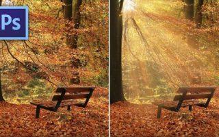 Hogyan fess napfény nyalábokat egy képre Photoshopban?
