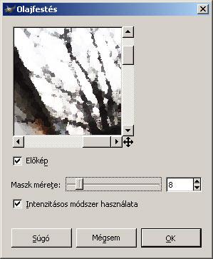 Olajfestmény GIMP képszerkesztőben 3.