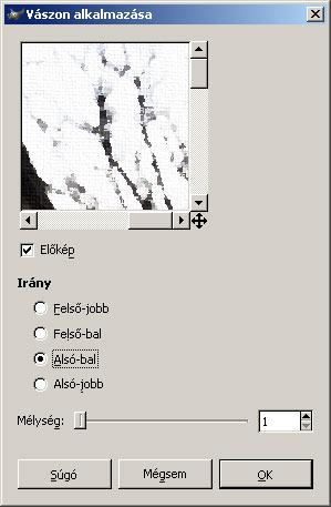 Olajfestmény GIMP képszerkesztőben 4.