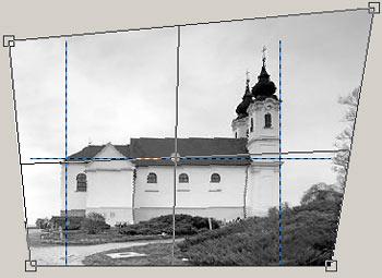 Perspektíva korrekció GIMP képszerkesztőben 4.