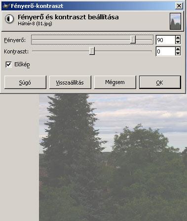 Világosítás III. GIMPben 2.