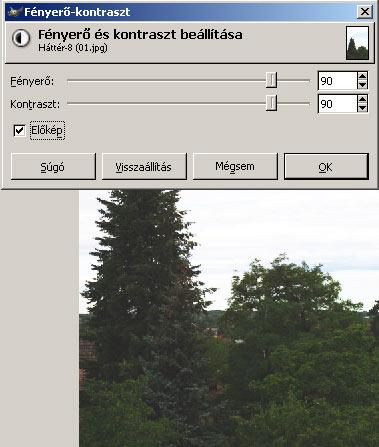 Világosítás III. GIMPben 3.