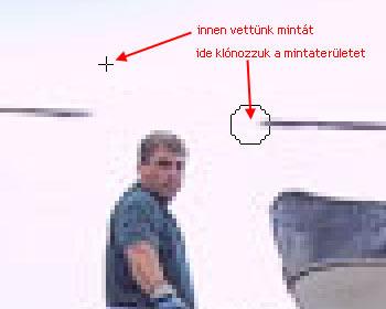 Zavaró képelem eltávolítása GIMP képszerkesztőben 3.