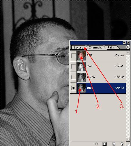 Cserzett arcbőr Photoshopban 2.