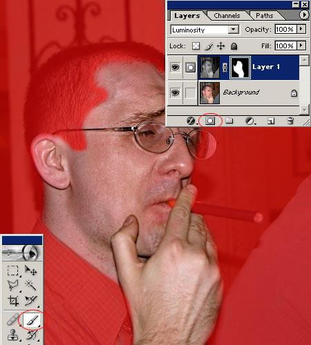 Cserzett arcbőr Photoshopban 4.
