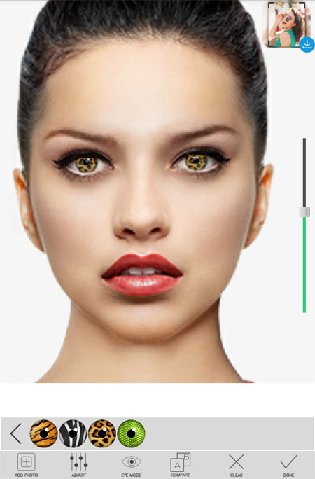 Android: Eye Color Changer