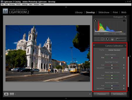 Adobe Lightroom - Színkalibráció