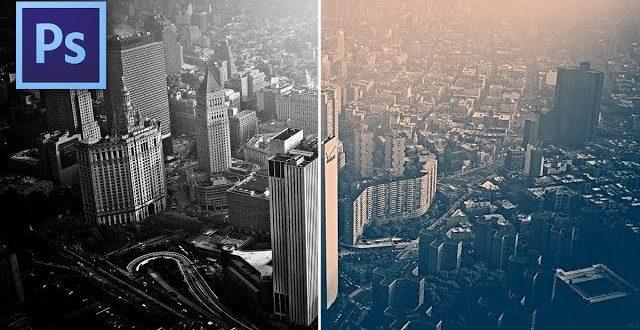 Fekete-fehérből duotone fénykép Photoshopban