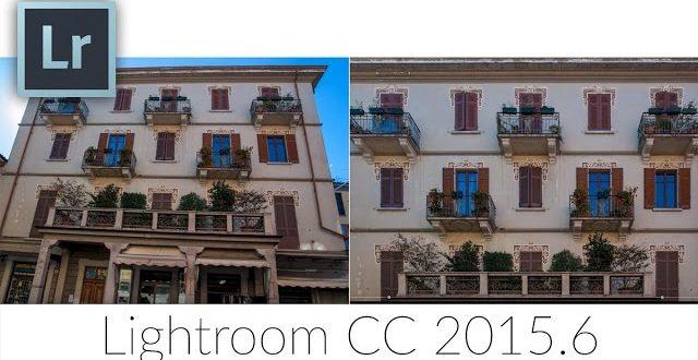 Perspektíva korrekció Lightroomban
