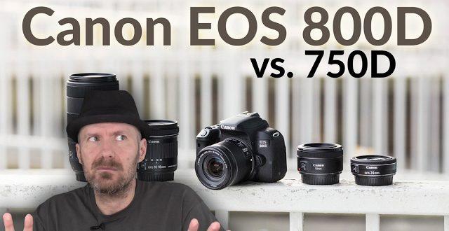 Canon EOS 800D vs  750D fényképezőgép összehasonlítás