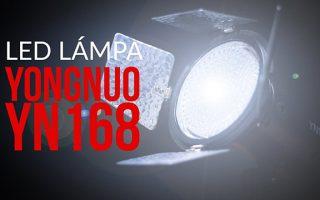 Yongnuo YN168 - LED lámpa videósoknak