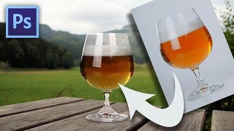 Hogyan lesz átlátszó a pohár Photoshopban