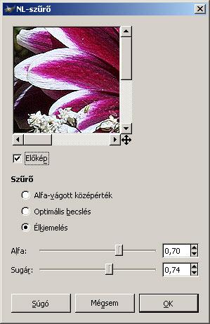 Élesítés III. GIMP-ben 2