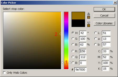 Gradiens szűrő II. Photoshopban 5.