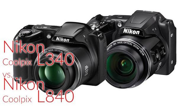 Nikon Coolpix L340 vs L840 fényképezőgép összehasonlítás