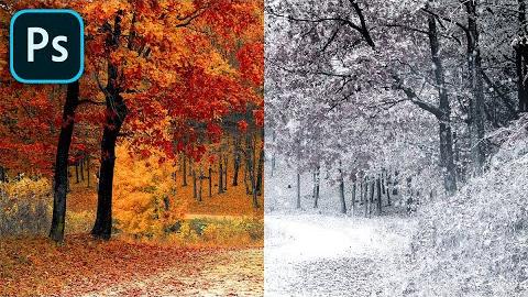 Őszből tél Photoshopban