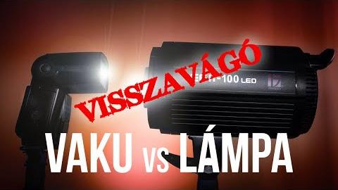 A visszavágó: vaku vs. lámpa